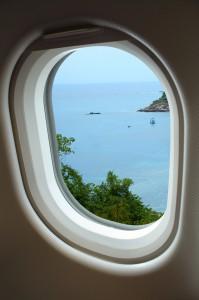 香港の空港からターゲットを尾行